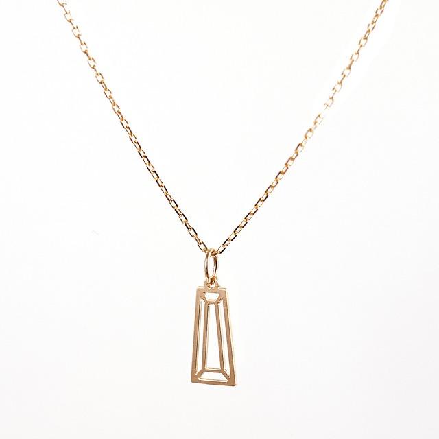 Taper cut necklace