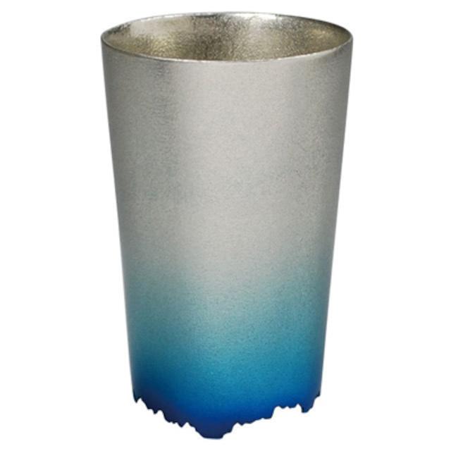 SHIKICOLORS ICEBLUE TUMBLER S(錫の酒器)