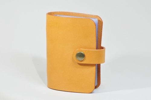 ヌメ革カードファイル