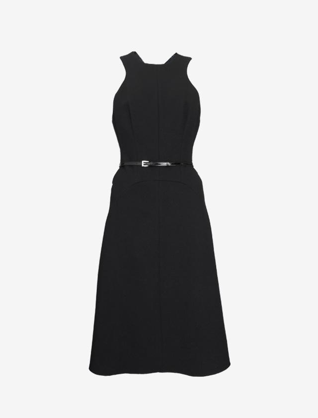 PRADA BACKCROSS BLACK DRESS
