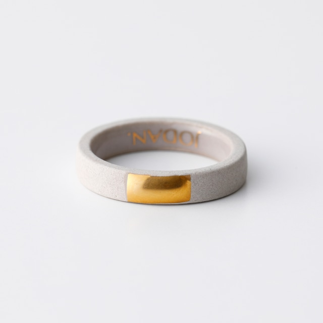 JODAN. aroma ring___Light Beige(square)香りを染み込ませるアロマリング