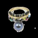 Bon-bon Rings(ボンボンリング)EMU-008bk ブラックパール