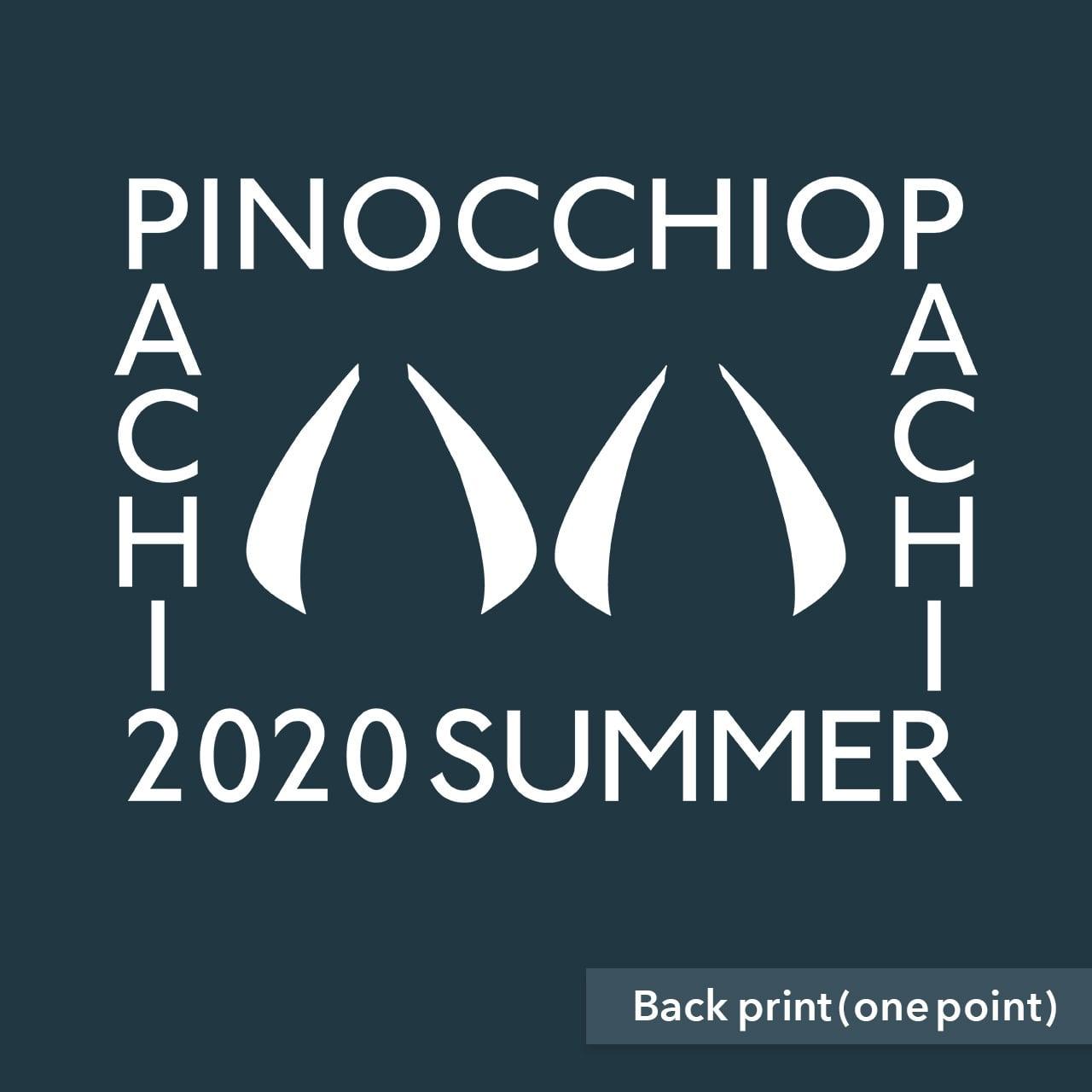 【受注生産再販】ピノキオピー - 八八 -パチパチ-  Tシャツ(スレート)+ステッカーセット - 画像2