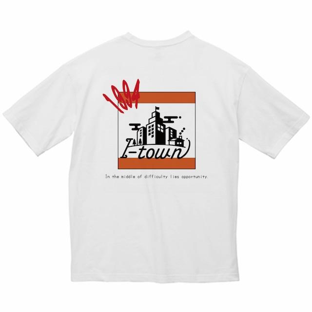 ロゴビッグTシャツ_ホワイト(オレンジ&レッド)_series0_夏期モデル