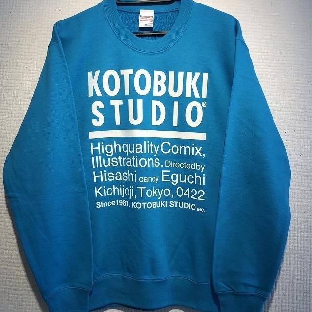 江口寿史 「KOTOBUKI STUDIO」トレーナー(ブルー)クリアファイル付き( ※色は選べません)