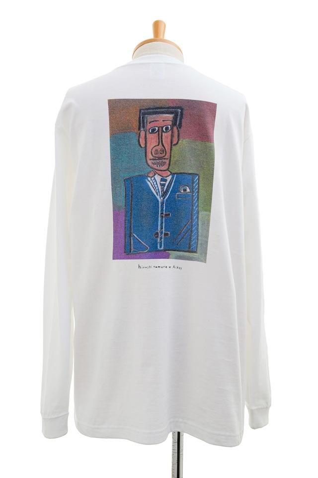 【Hiroshi Tamura × Ackey】ロングスリーブTシャツ ホワイト