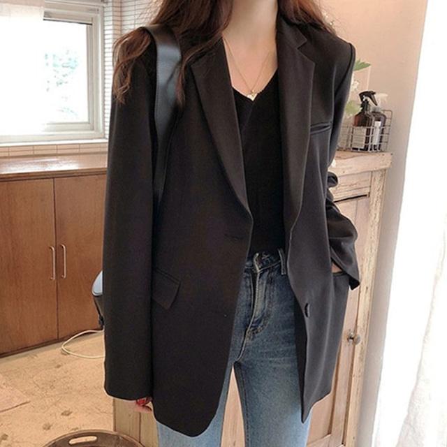 【アウター】上品オシャレ韓国ファッション通勤テーラードジャケット27456481