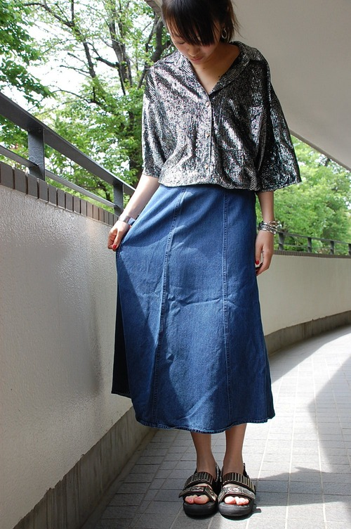 vintage LLBean tensel skirt