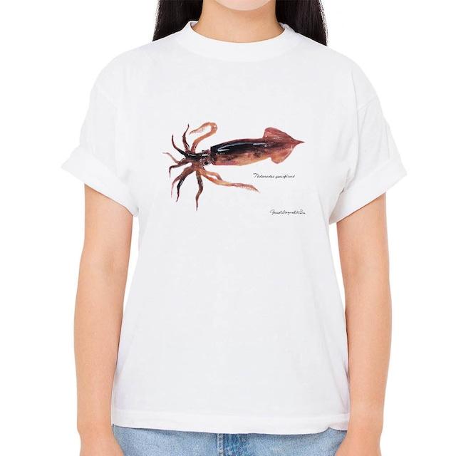 【スルメイカ】長嶋祐成コレクション 魚の譜Tシャツ(高解像・昇華プリント)