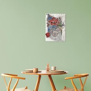素敵なアートパネル A4サイズ スイカズラ ウィリアム・モリス