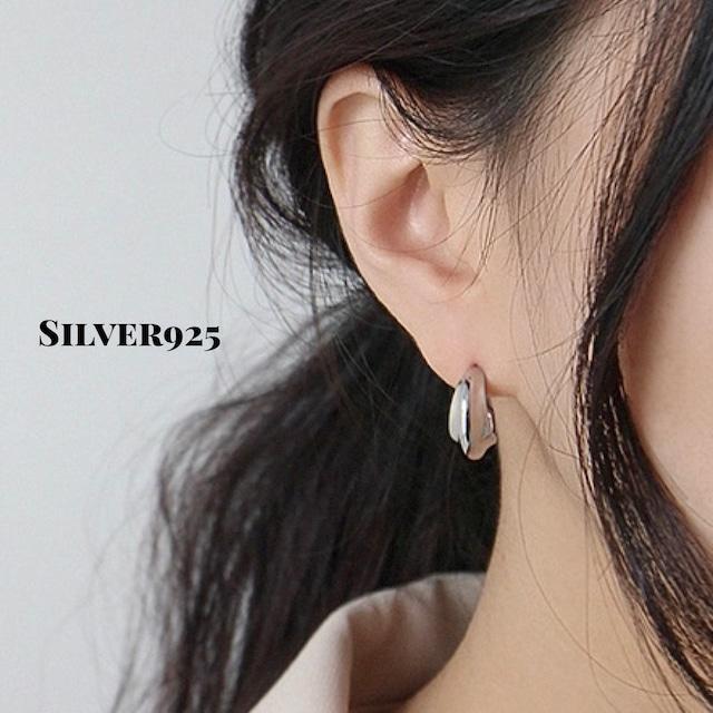 ◆即納◆シルバー925 フープピアス 輪ピアス silver 925 シルバー/ゴールド