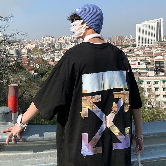 【トップス】半袖ストリートバツプリント暗黒系ファッションTシャツ43343243