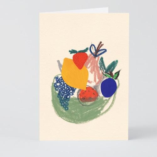 WRAP / Fruit Basket  ART CARD - Illustrated by B.D. Graft-