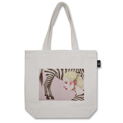Zebra トートバッグ (M:内ポケット付き)品番:sud-m-01