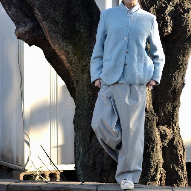 "【MADE IN FRANCE】ANTONELLE スカイブルーニットジャケット ""VESTE RIVIERA"""