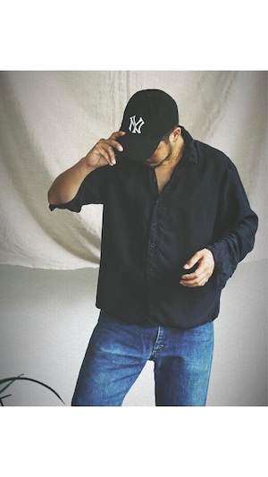 <STYLING> ⇨ Chez VIDALENC - Shirt stockholm (dark navy)