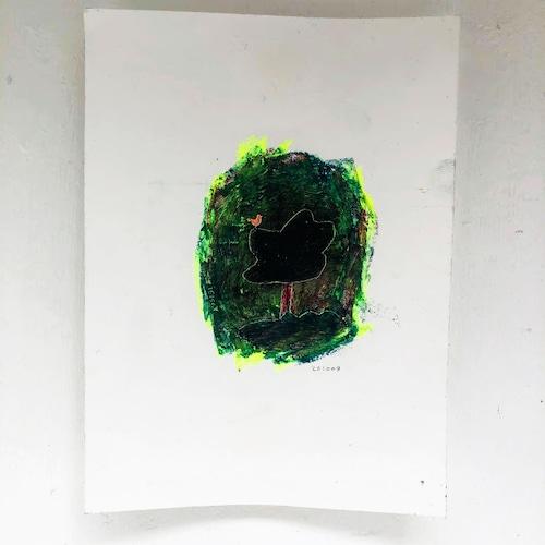 吉村哲 クマヒコ書房「小鳥と木」