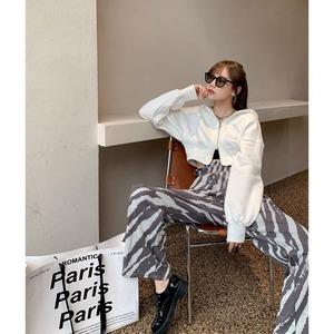 zebra pattern pants