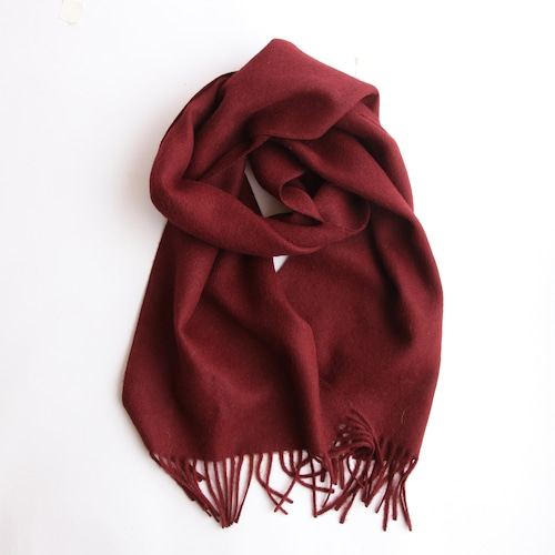 THE INOUE BROTHERS/Brushed Scarf/Burgundy