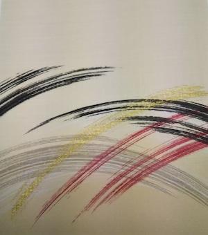 はるか860(1枚柄) 彩波 織物ふすま紙 202cm×97cm 1枚 刷毛引きモダン波