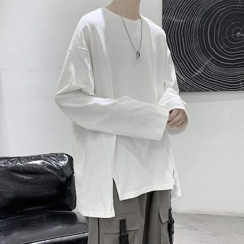 アシメシンプルロングTシャツ BL8259