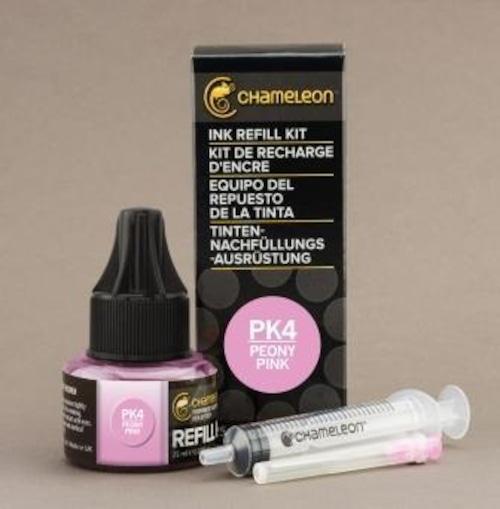 Chameleon Pen Ink Refill 25ml Peony Pink PK4 (カメレオンペン 詰替え用インク PK4)