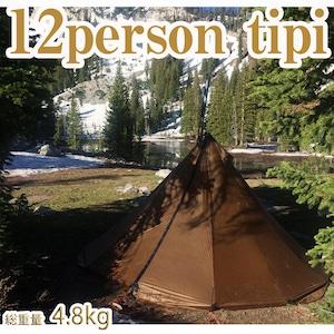 12パーソンティピーコンボ (12人用ティピーテントコンビネーション・ボーナスセット) /12Person Tipi Light Teepee Tent & Titanium wood stove XL Seek Outside