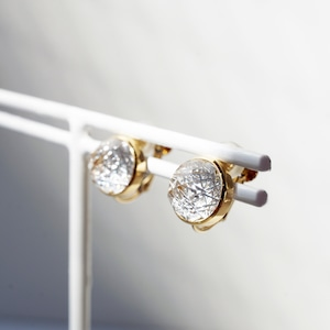 Quartz KIRIKO Earrings (Round)