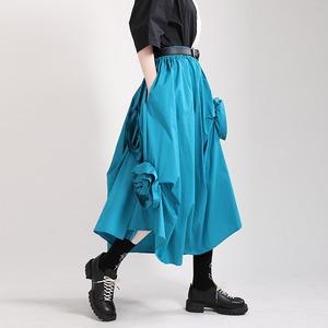 レディース ロングスカート ミモレ丈 ゴシック 個性 ハイウェスト Aライン スカート パンク 大きいサイズ 2910