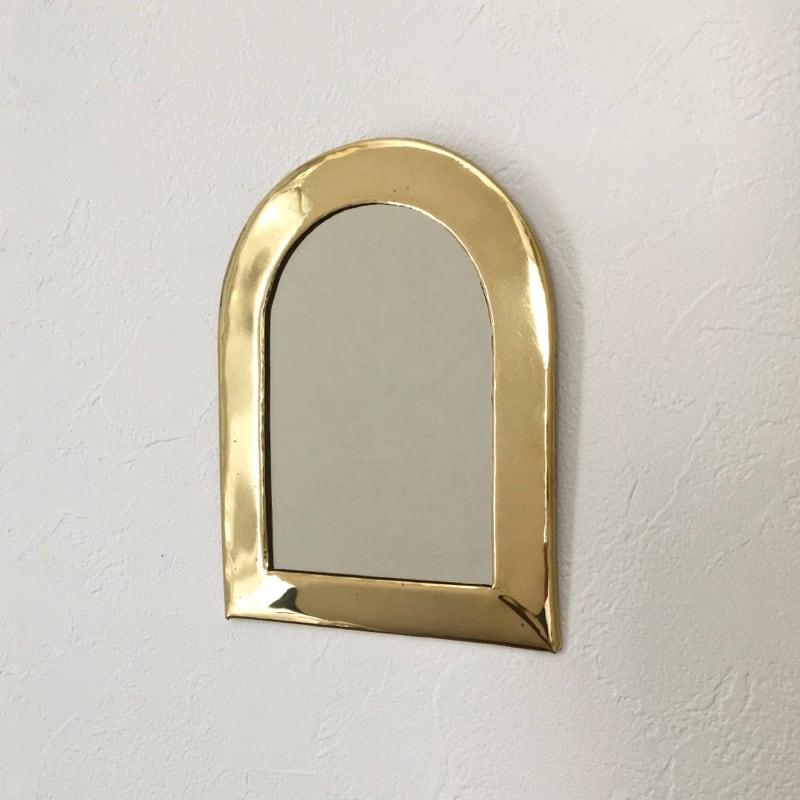 """モロッコの小さな鏡(アーチ)  Moroccan Brass Mirror """"Arch"""""""