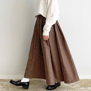 【HARVESTY】 WOOL TWEED CARMEN SKIRT (CAMEL , CHARCOAL) ウールツイード カルメンスカート