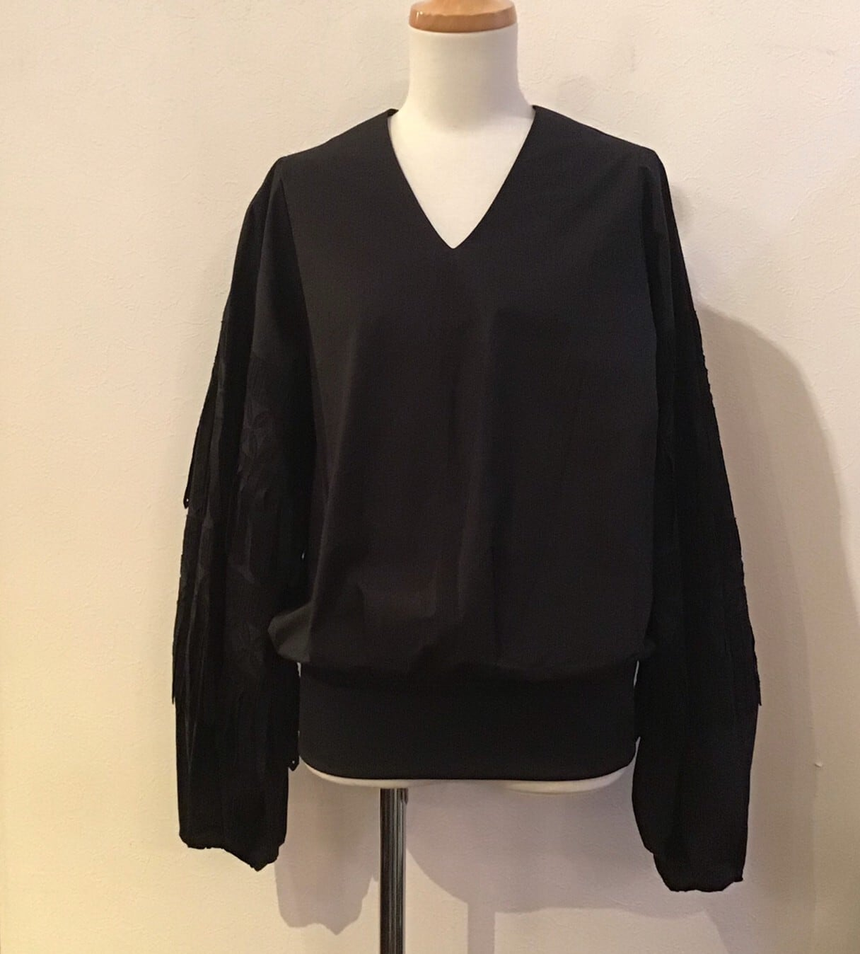 FUMIETANAKA F20A-20 arm fringe shirts color black size 36
