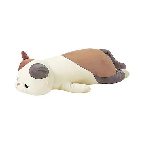 猫抱き枕(プレミアムねむねむアニマルズL)ミケネコのゆず