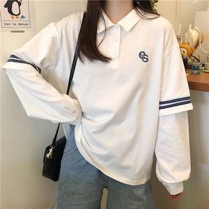 ラインデザインポロシャツ S3826
