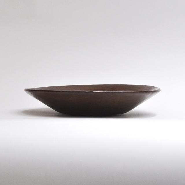 EREACHE エレアチェ 素焼き こげ茶 お皿 食器 メキシコ オアハカ No.10