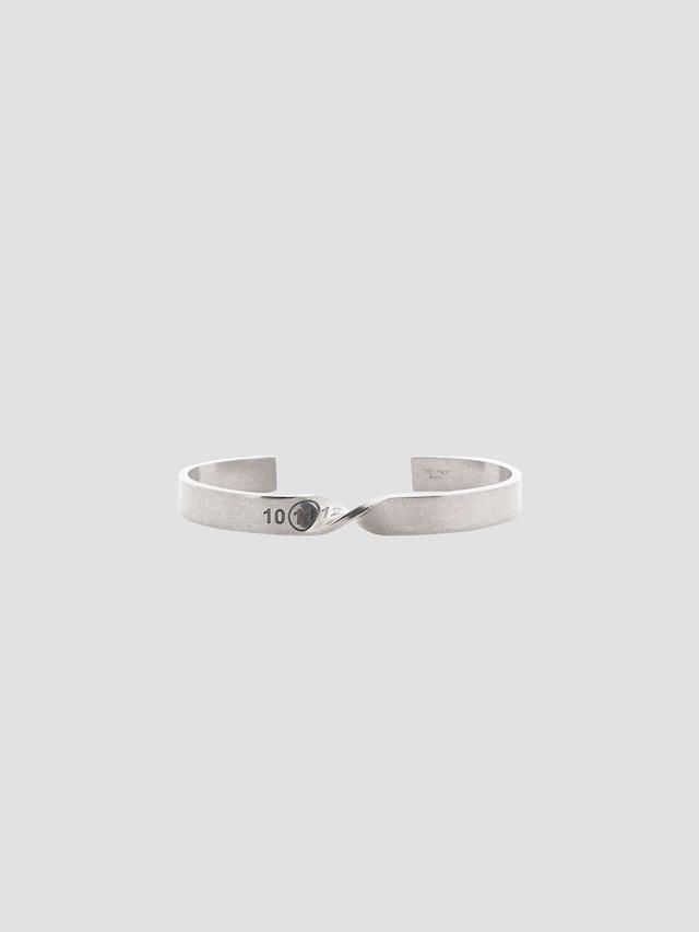 MAISON MARGIELA Twisted Numbers Bracelet Palladio Semi Polished SM1UY0045