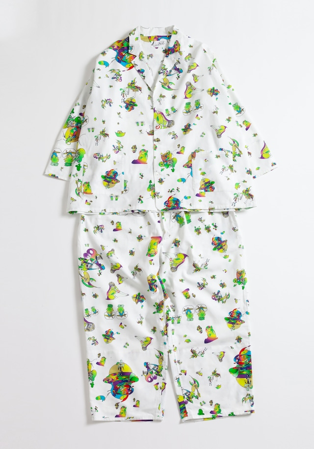 【NOWHAW】day jambo pajama #∈Y∋ -White-