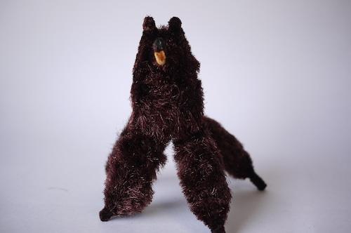 古い玩具 昭和レトロなモール人形 哀愁の茶犬