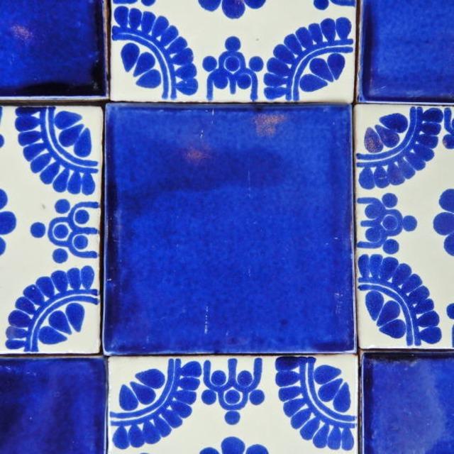 メキシコタイル ネイビー