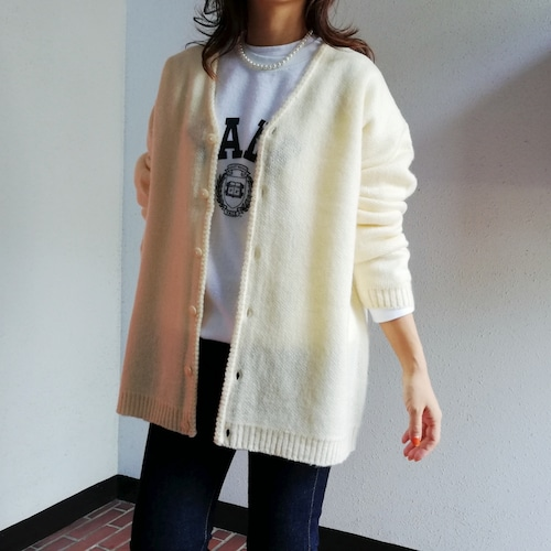 TOWNCRAFT(SHAGGY SOLID CARDIGAN)