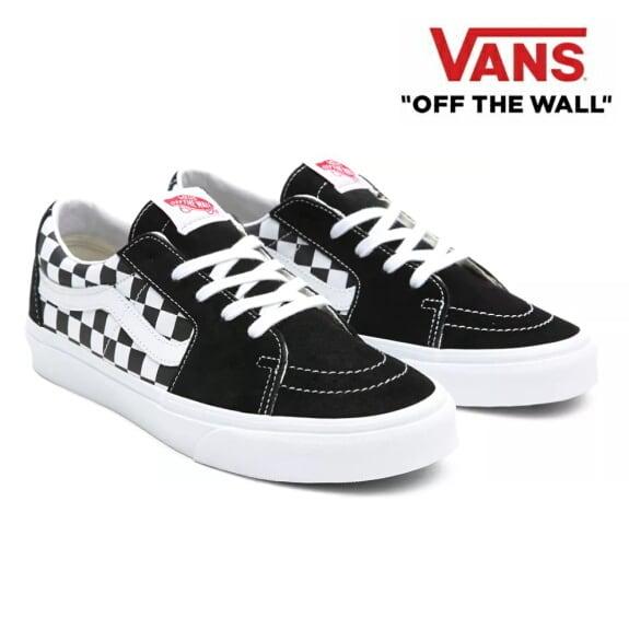 VANS バンズ ヴァンズ スニーカー メンズ スケート ローカット SH8-LOW (Canvas/Suede) Black/Checkerboard