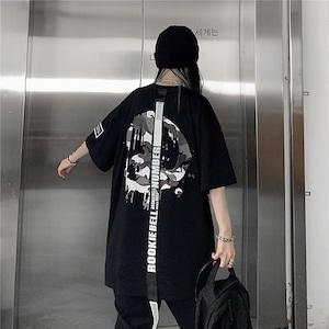 【トップス】シンプル個性的設計感ありファッション半袖Tシャツ46870796