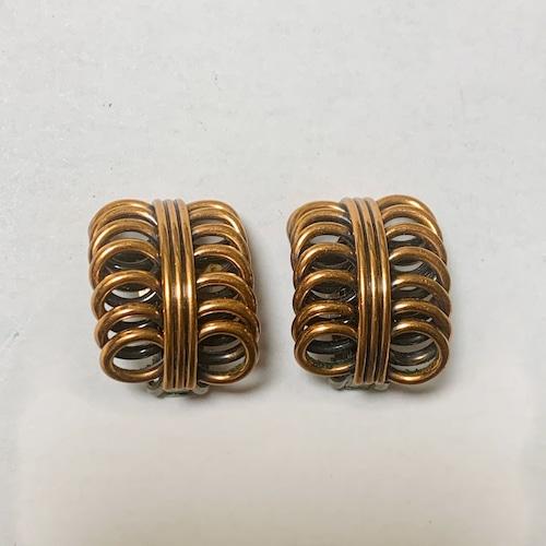 Vintage Renoir Copper Modernist Earrings③