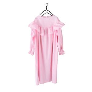ASYMMETRY FRILL DRESS DYED / LL