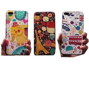 予約 予約 スマホケース iPhoneケース アイフォンケース 立体模様 動物 携帯ケース スマホ ケース エスニック アジアン アジア風 ゾウ 乗り物 外国雑貨 スマートフォンケース iPhone12 iPhone11 iPhoneX iPhone8 iPhone7 iPhone6 iPhone5 pro promax h1033