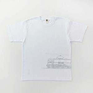 鉄道Tシャツ|EF58-61( White × Silver )