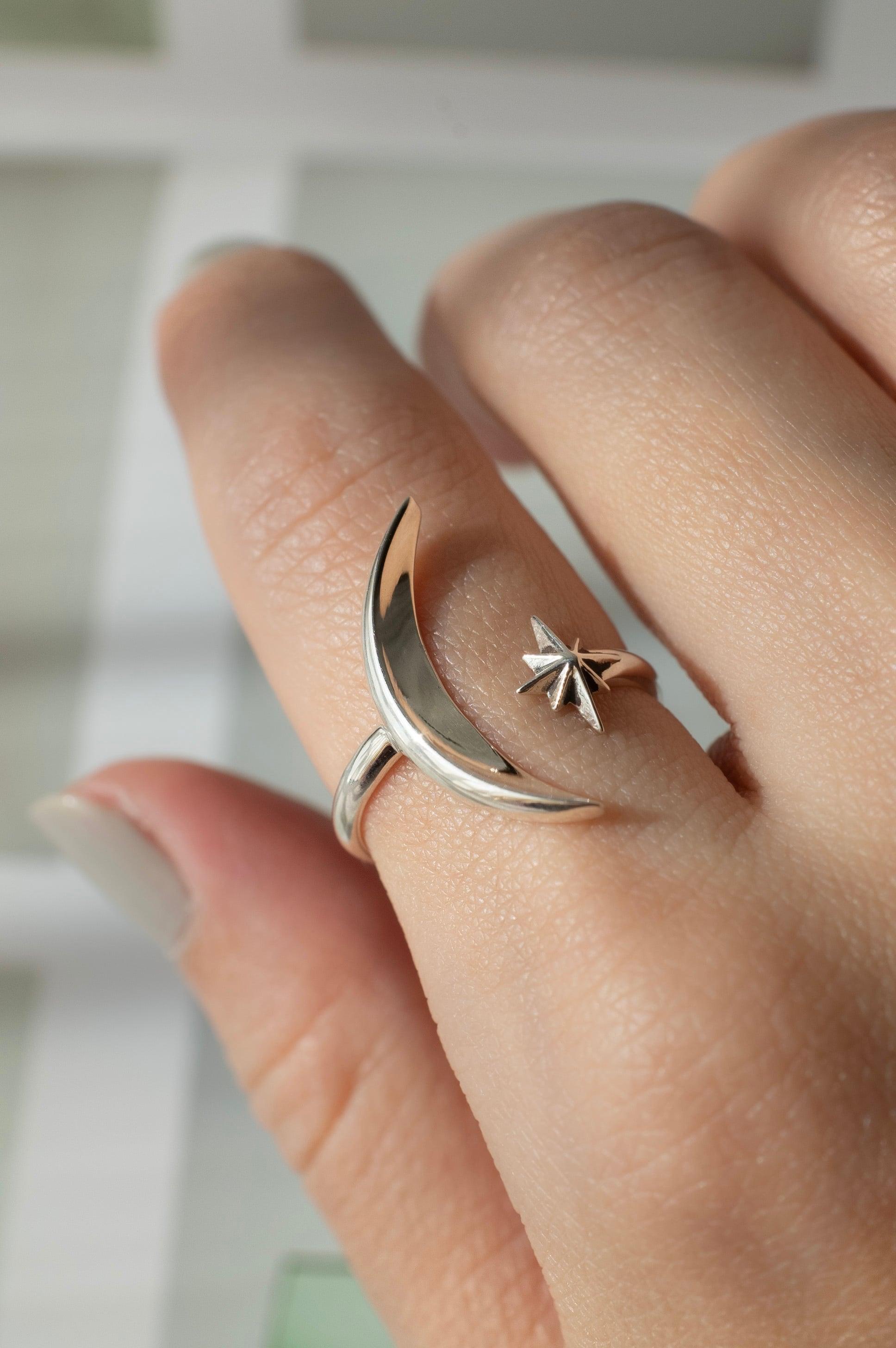 MOON x STAR Open Ring - 004
