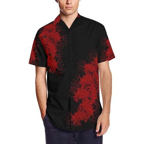 曼珠沙華 和柄アロハシャツ
