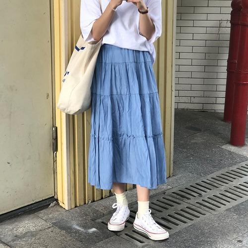 Aラインギャザーロングスカート #RD7501