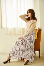 Pleated Chiffon Long Skirt